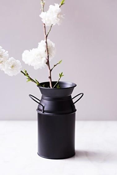 Arma House Siyah Country Tarzı Güğüm Vazo Siyah